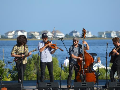 Band at the Outer Banks Bluegrass Festival at Roanoke Island Festival Park
