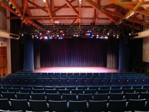Empty indoor theatre at Roanoke Island Festival Park
