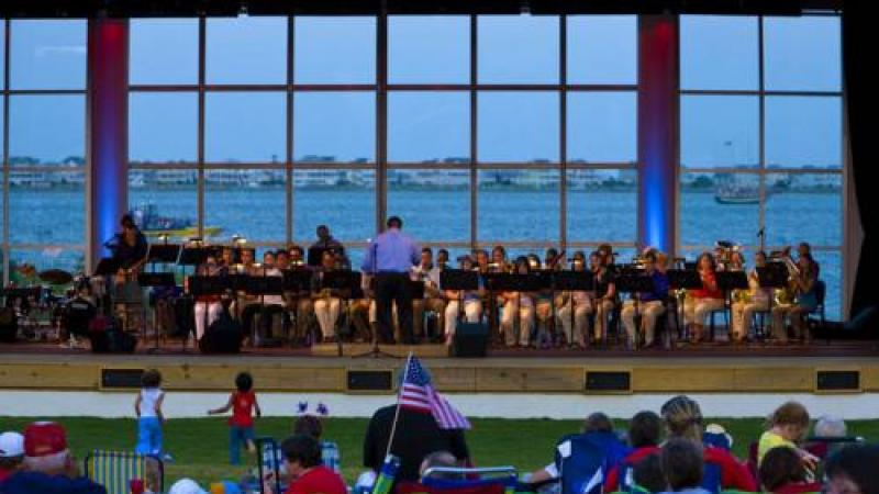 July 4th concert on the pavilion stage at Roanoke Island Festival Park