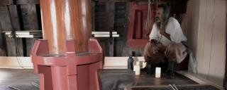 Historic interpreter below deck on the Elizabeth II ship at Roanoke Island Festival Park