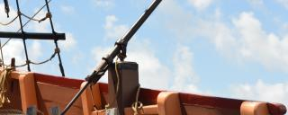 Sling gun on the Elizabeth II ship at Roanoke Island Festival Park