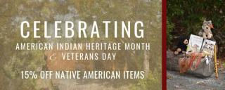 American Indian Heritage Month sales in the Museum Stores at Roanoke Island Festival Park