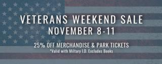 Veterans Weekend Sales in the Museum Stores at Roanoke Island Festival Park