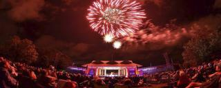 Firework show during concert at Roanoke Island Festival Park