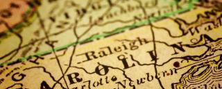 Vintage map of North Carolina