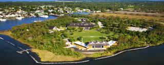 Aerial view of Roanoke Island Festival Park