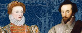Queen Elizabeth and Sir Walter Raleigh graphic banner