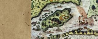 16th century map of Roanoke Island