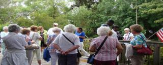 Senior group tour at Roanoke Island Festival Park