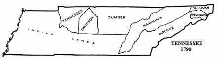 Tennessee Counties Originally In North Carolina State Library Of
