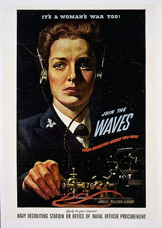 """Its a woman's war too!"" Poster. 1942. Item LC-USZC4-1856, Library of Congress Prints & Photographs Online Catalog. http://www.loc.gov/pictures/item/92505327/"