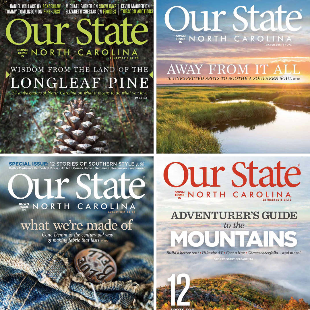 Covers from issues of Our State