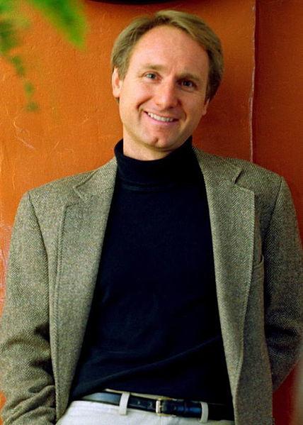 A portrait of author, Dan Brown