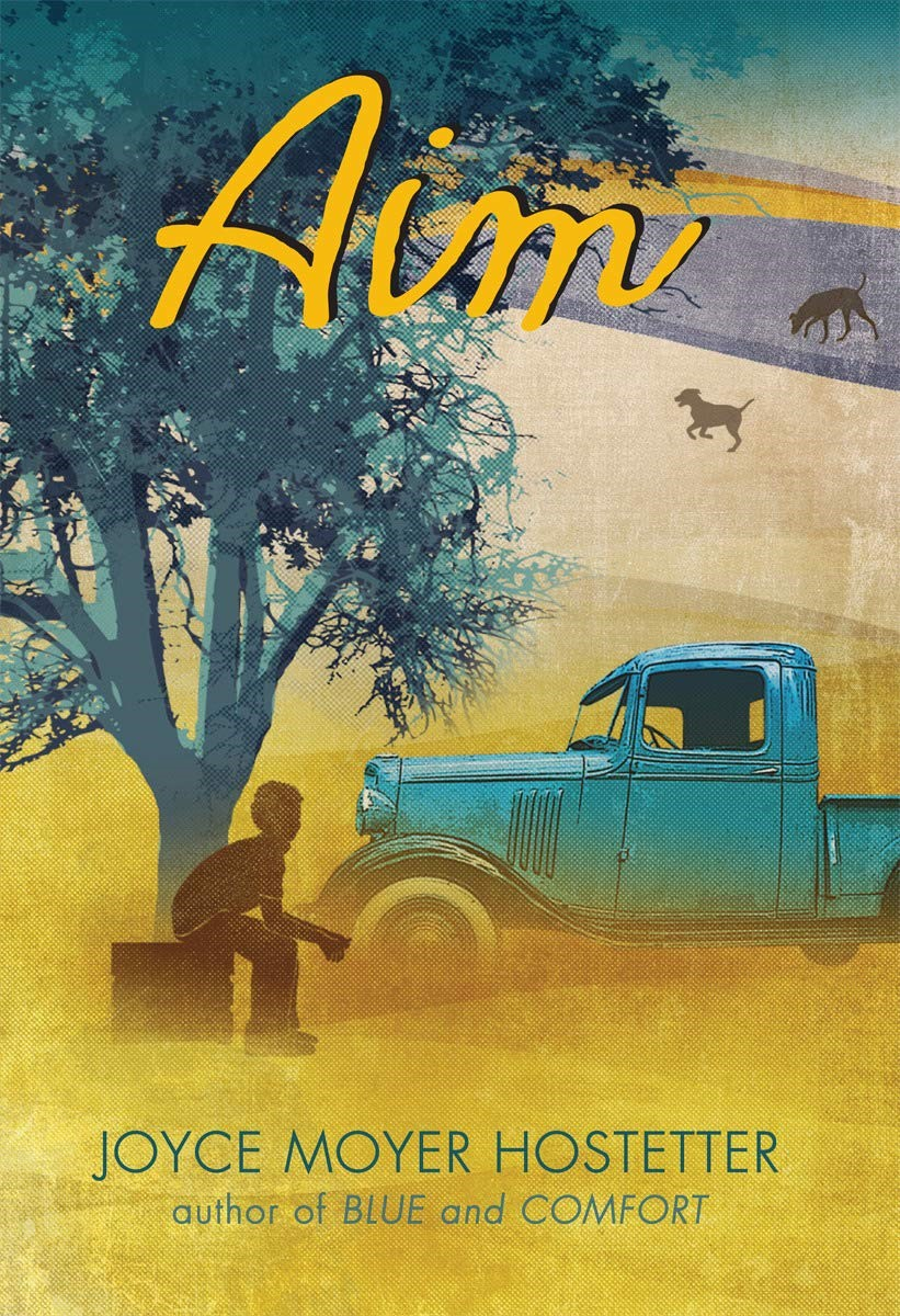 Book jacket  of the book, Aim by Joyce Moyer Hostetter