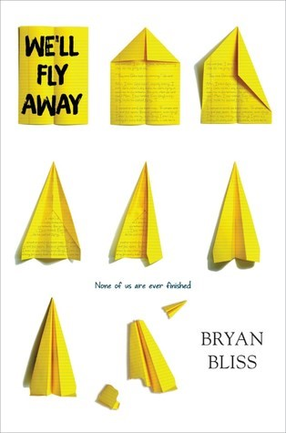book jacket featuring a piece of paper and seven paper airplanes