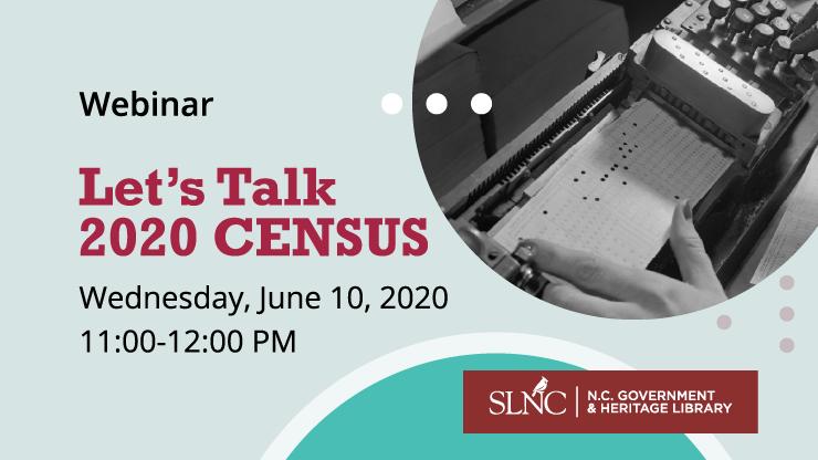 Let's Talk 2020 Census webinar graphic
