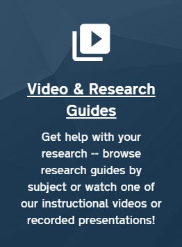 "Screenshot of the ""Video & Research Guides"" web portal."