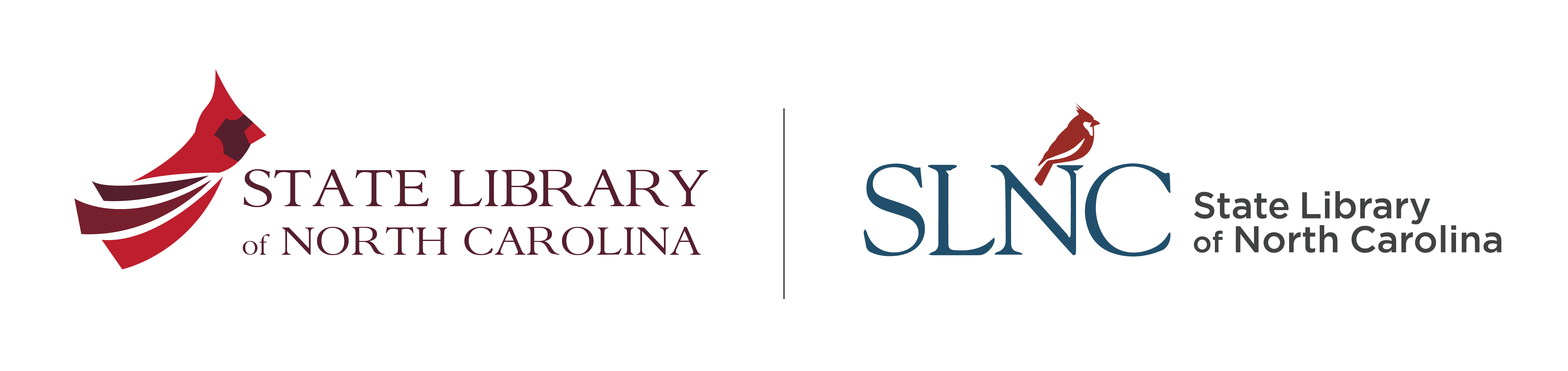 The library's old and new logos