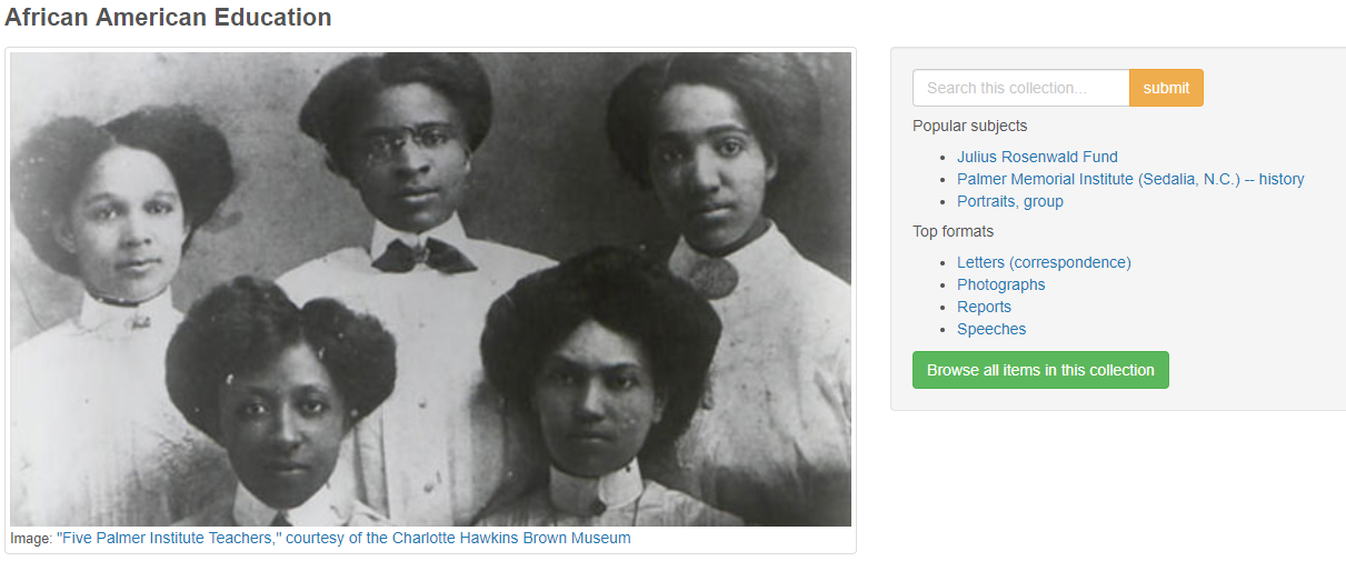 African American Education collection landing page