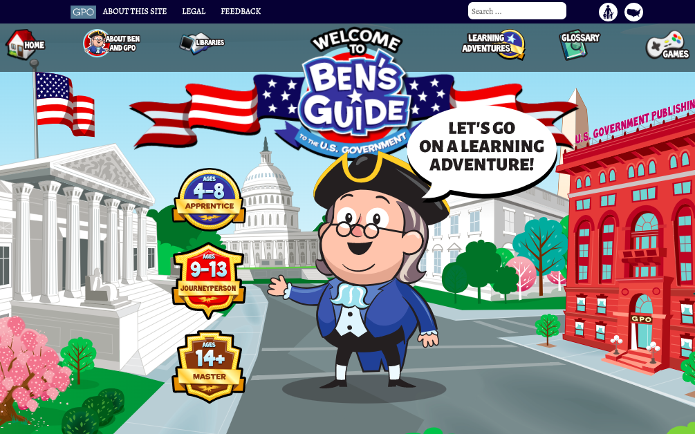 Website with games, activities and lessons for children
