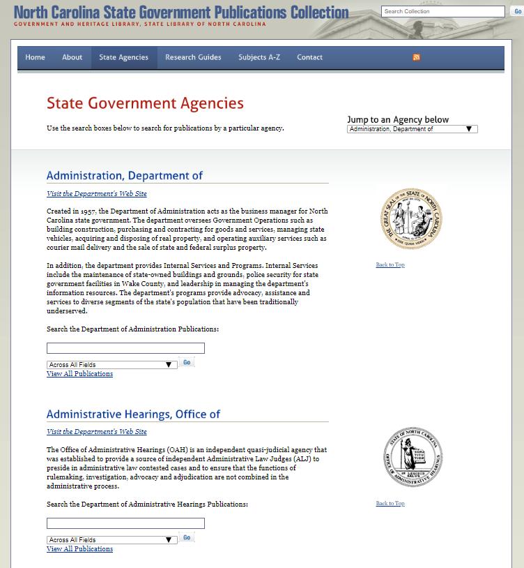 State Agencies Tab