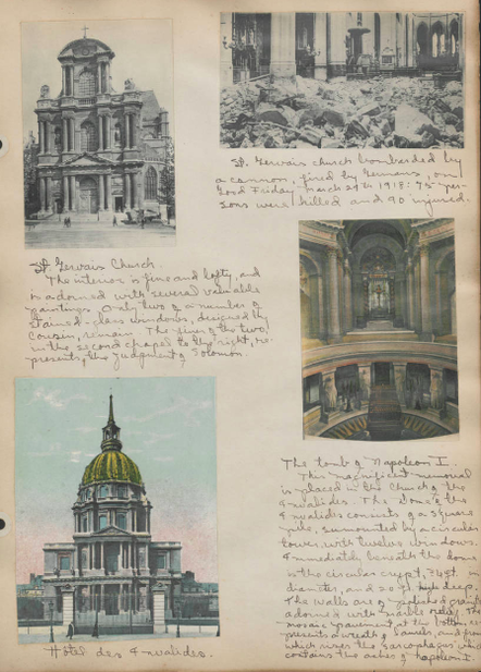St. Gervais Church and Hotel des Invalides, Paris, after WW1