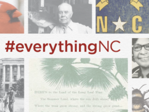 EverythingNC banner containing several historical images representing the state of North Carolina
