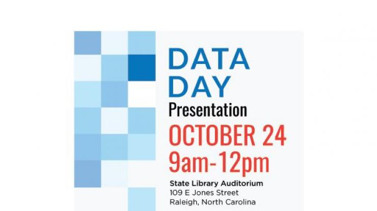 DATA DAY Presentation October 24 9am - 12pm State Library Auditorium 109 E Jones Street Raleigh, North Carolina