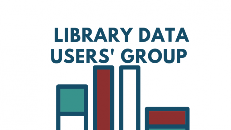 Library Data User's Group text and bar graph shapes