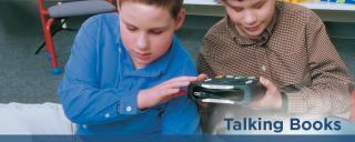 Children listening to a talking book