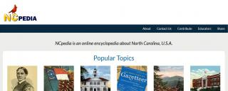 NCpedia.org screen shot