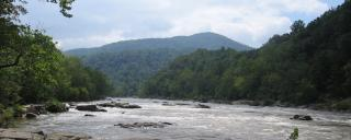 The French Broad River State Trail flows from Rosman, N.C. to the Tennessee border near Hot Springs, N.C.