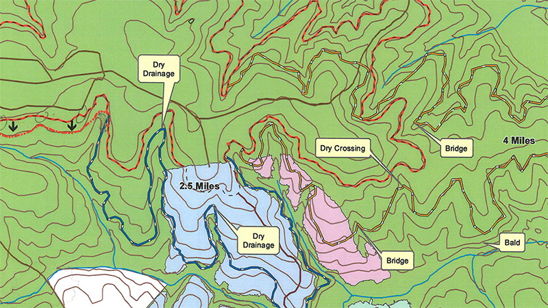 Example of a planning topography map