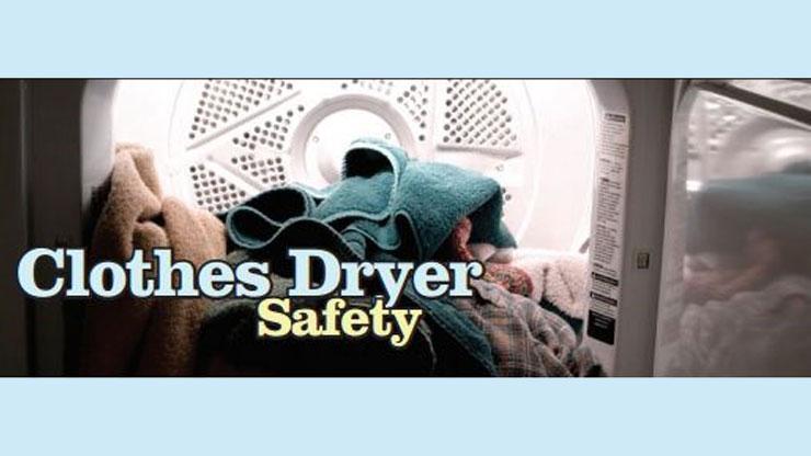 Dryer safety graphic
