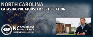 NC DOI: North Carolina Catastrophe Adjuster Certification