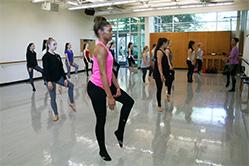 Governor's School dance class