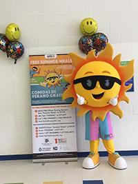 Ray, the Summer Nutrition Program Mascot
