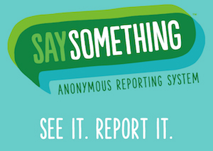 Say Something Reporting System Logo