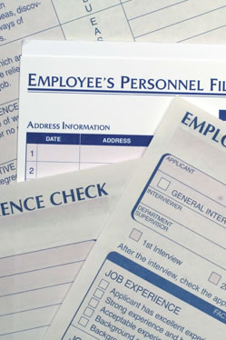 Stock photo of employee personnel documents