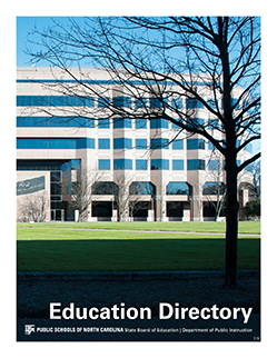 Education Directory cover showing a photo of the DPI building.