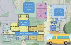 Stock photo of a school's floorplan
