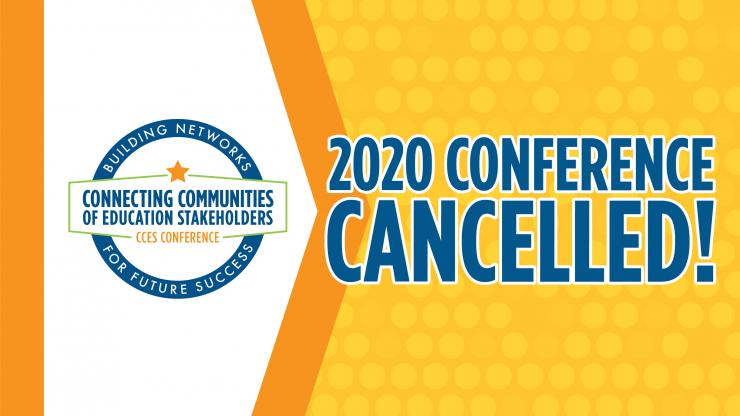 CCES 2020 Cancelled placard