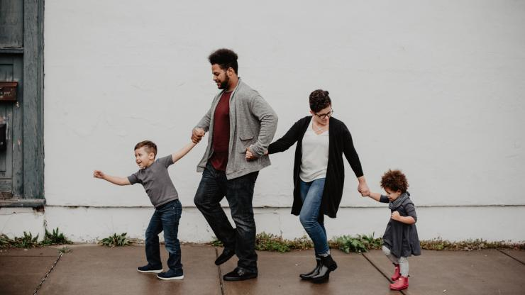 A family walking
