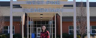 2019 NCTOY at her school, West Pine Elementary, Moore County Schools