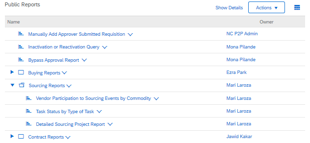 Public Sourcing Reports