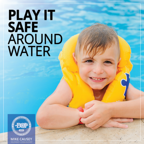 Play it safe around water graphic