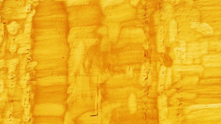 Yellow textured painting