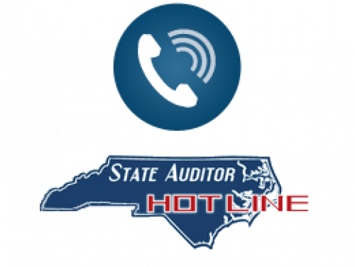 outline of North Carolina with a telephone above it