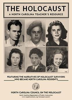 Front cover of the holocaust teacher's resource publication.