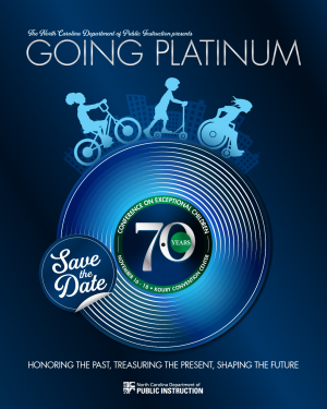 Going Platinum Save the Date Logo for the 70th Conference on Exceptional Children on November 16-18, 2021